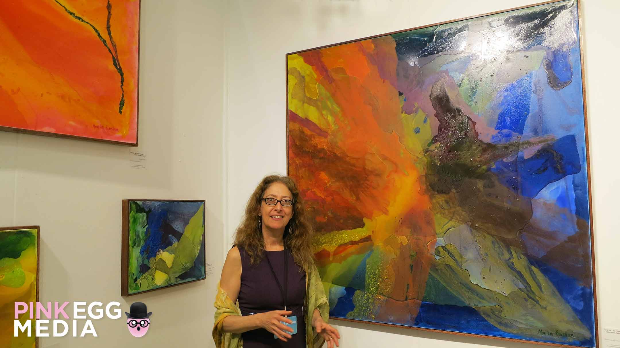 Artist: Momilani Ramstrum at Art San Diego. Photo by: Melissa Sanchez