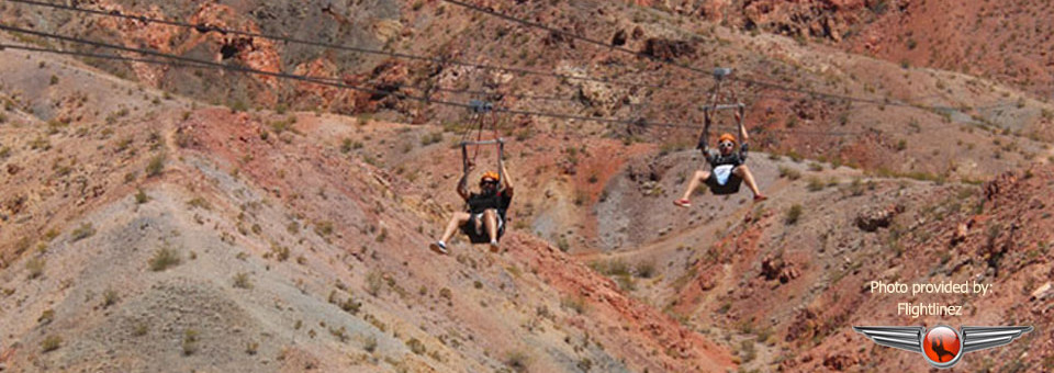 Ziplining over Bootleg Canyon – Flightlinez