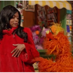 Cookie Lyon in Red Fur coat