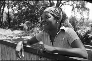 Author and poet Maya Angelou pictured in 1974. Photo by Wayne Miller/Magnum