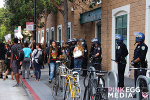 Rally Participants in front of Mission St. Police Station.