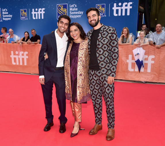 "(L-R) Nishant Tharani, Director Mira Nair and music supervisor Zohran Kwame Mamdani arrive at the world premiere of Disney's ""Queen of Katwe"" at Roy Thompson Hall"